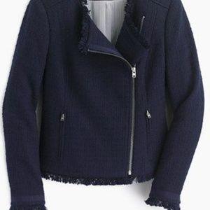 J. Crew Tweed Moto Jacket
